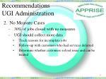 recommendations ugi administration1