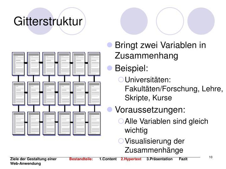 Gitterstruktur