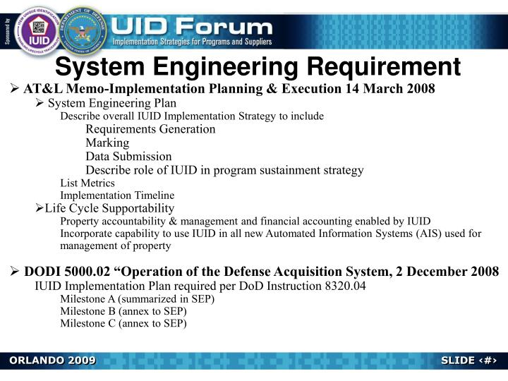 System Engineering Requirement