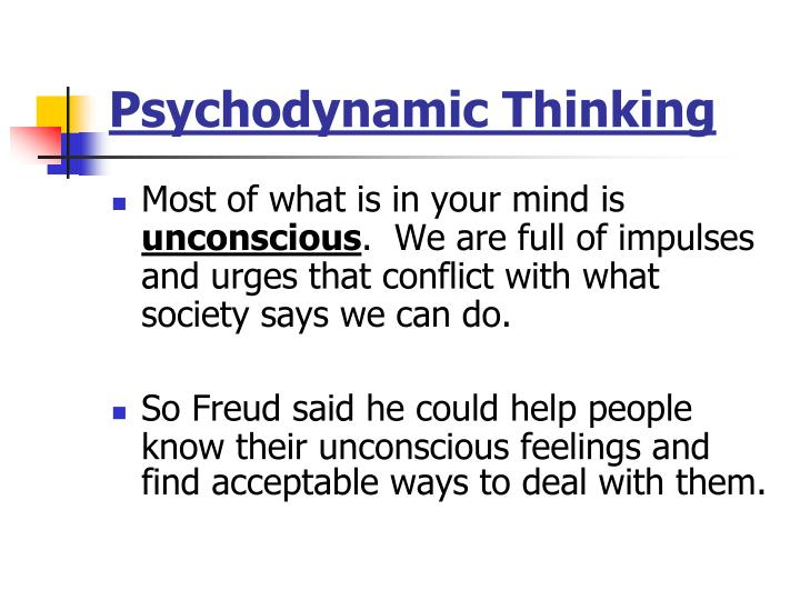 Psychodynamic Thinking