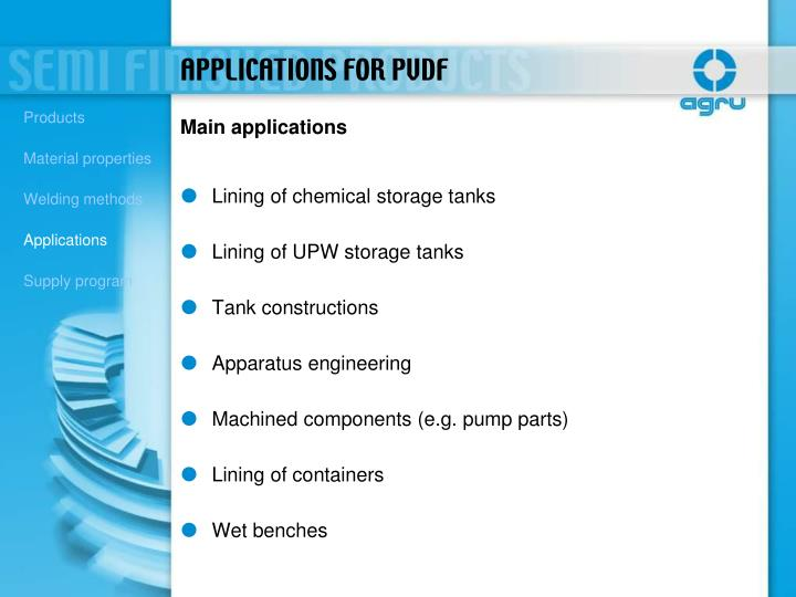 Lining of chemical storage tanks
