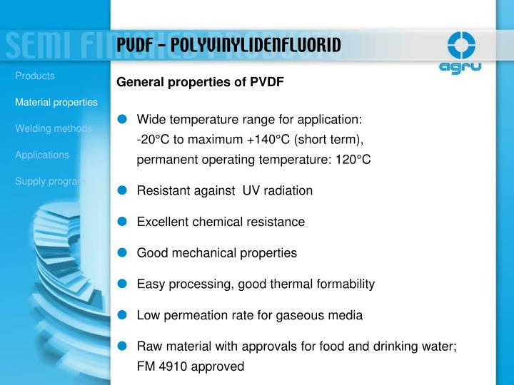 Wide temperature range for application: