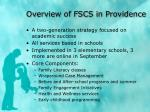 overview of fscs in providence