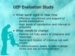 uep evaluation study
