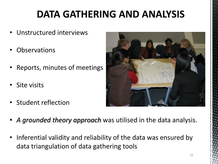 DATA GATHERING AND ANALYSIS