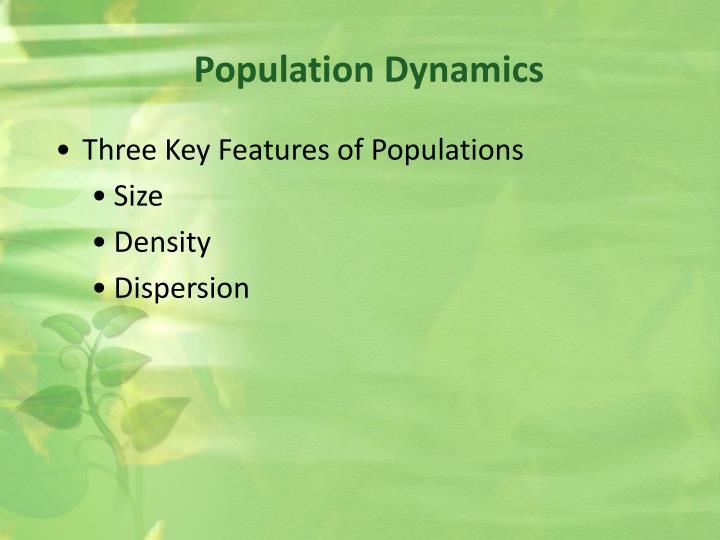 Population dynamics1