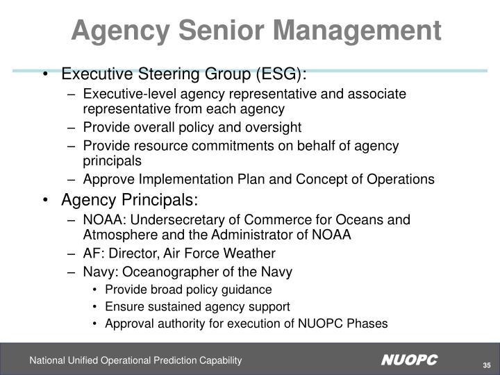 Agency Senior Management