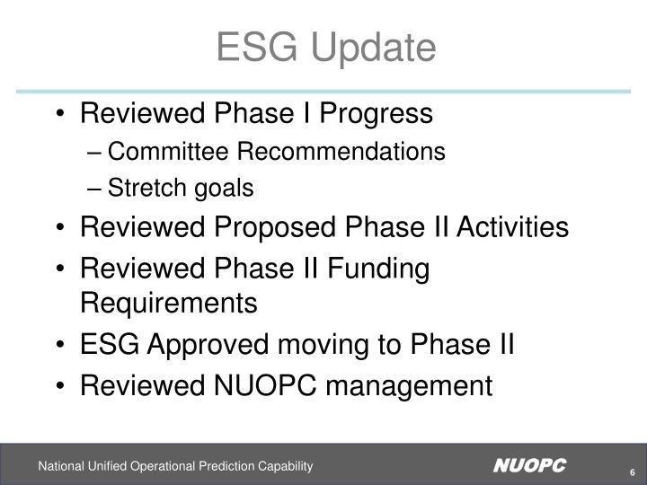 ESG Update