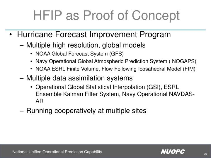 HFIP as Proof of Concept
