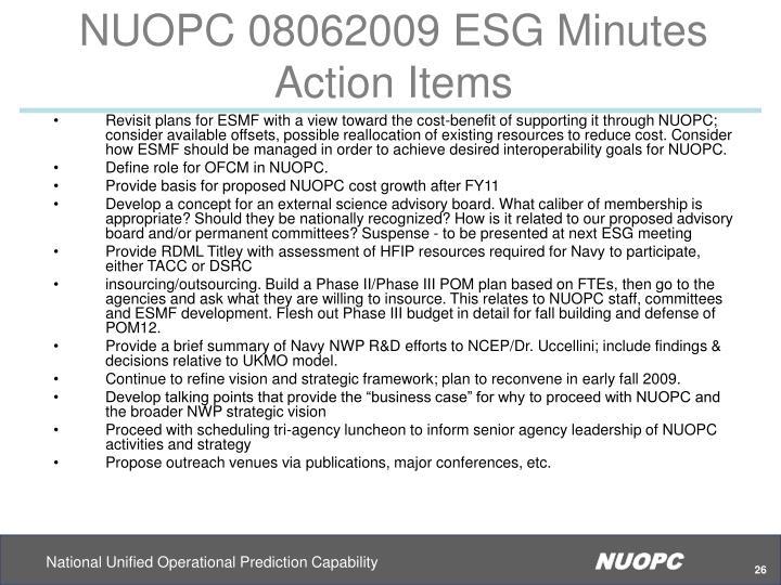 NUOPC 08062009 ESG Minutes