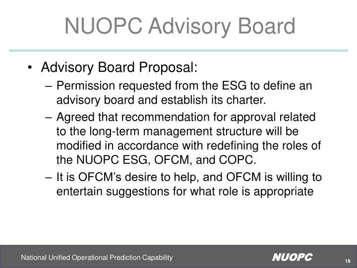 NUOPC Advisory Board