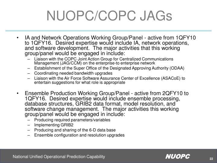 NUOPC/COPC JAGs