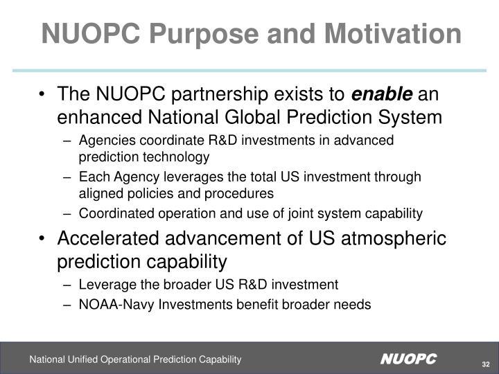 NUOPC Purpose and Motivation