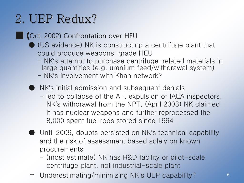 PPT - North Korea's Uranium Enrichment Program PowerPoint