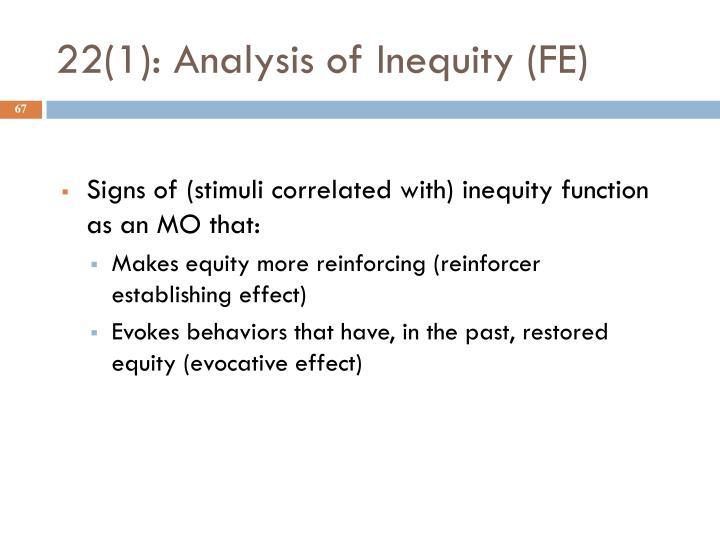 22(1): Analysis of Inequity (FE)