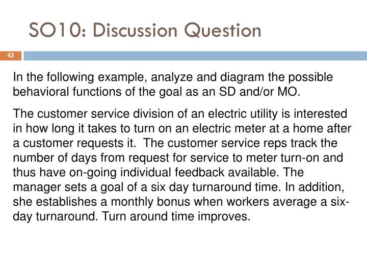SO10: Discussion Question