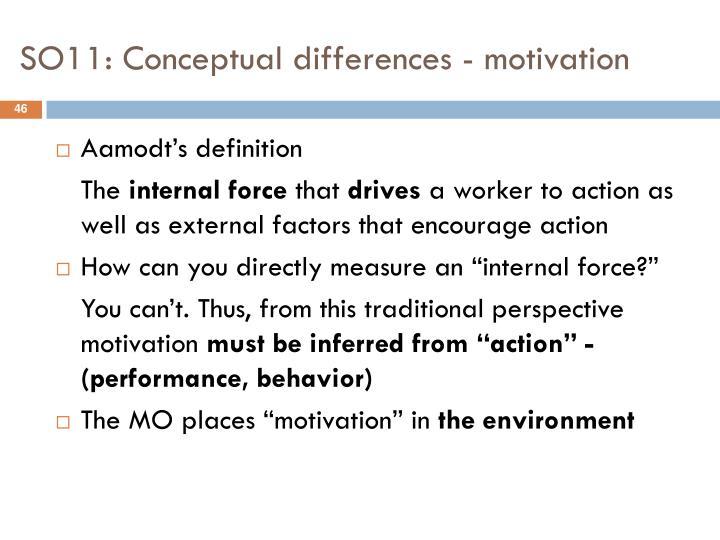 SO11: Conceptual differences - motivation