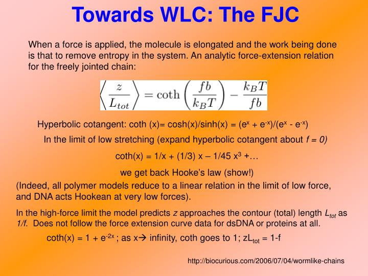 Towards WLC: The FJC