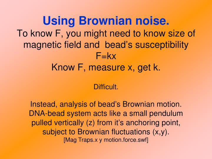 Using Brownian noise.