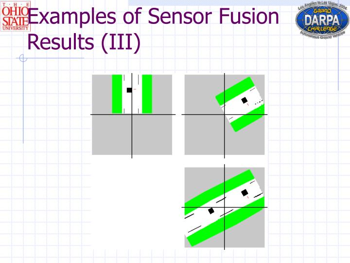 Examples of Sensor Fusion Results (III)