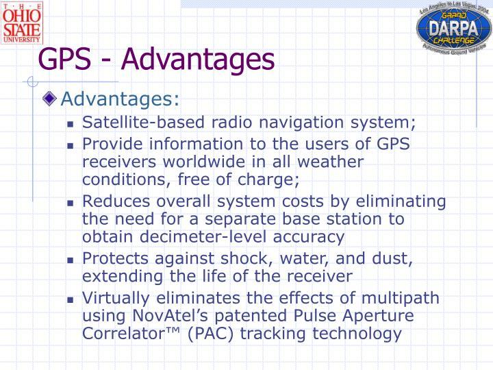 GPS - Advantages