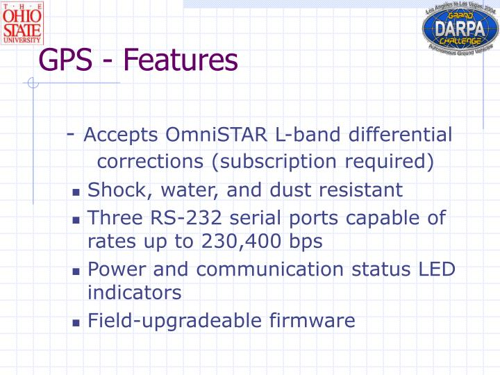 GPS - Features