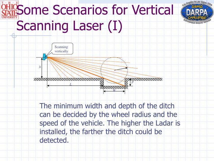 Scanning vertically