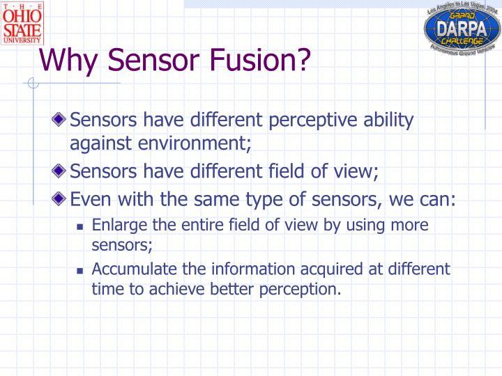 Why Sensor Fusion?