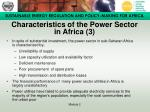 characteristics of the power sector in africa 3