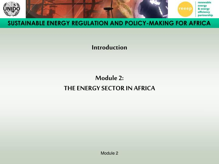 introduction module 2 the energy sector in africa