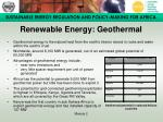 renewable energy geothermal