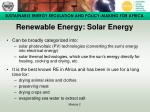 renewable energy solar energy