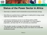 status of the power sector in africa