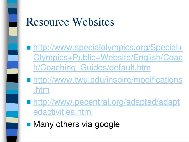 Resource Websites