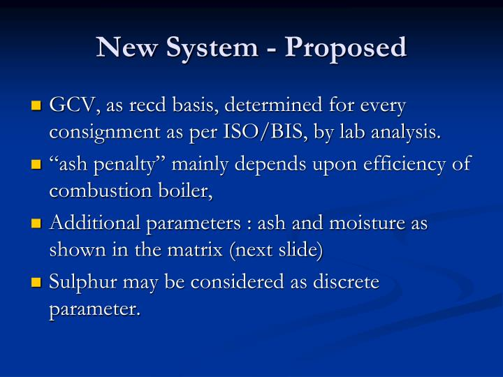 New System - Proposed