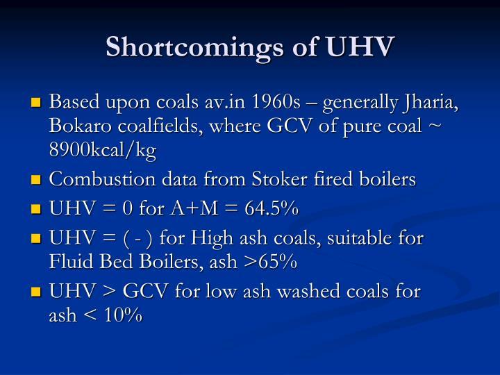 Shortcomings of uhv