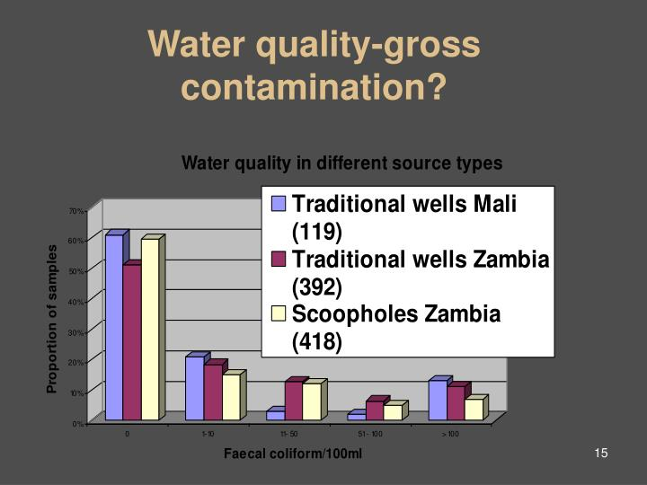 Water quality-gross contamination?
