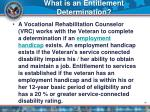 what is an entitlement determination