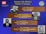 kansas city district points of contact