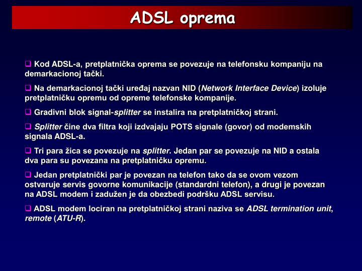 ADSL oprema