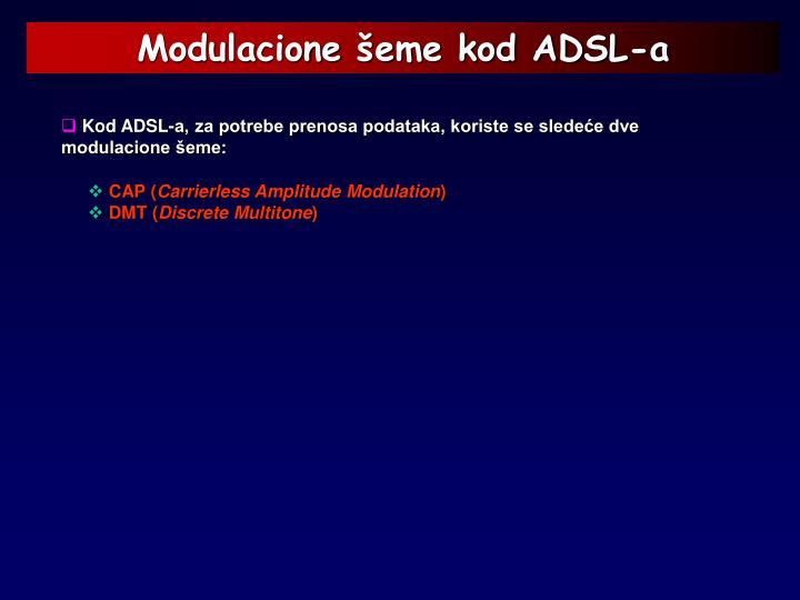 Modulacione šeme kod ADSL-a
