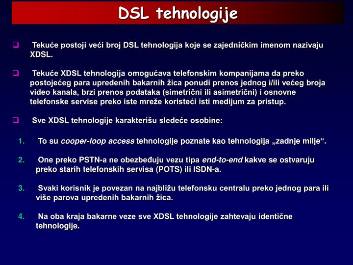 DSL tehnologije