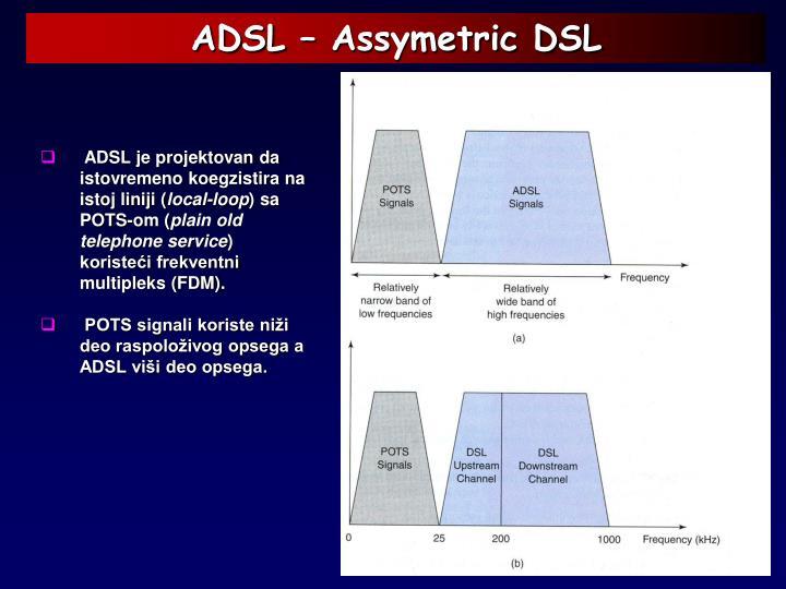 ADSL – Assymetric DSL