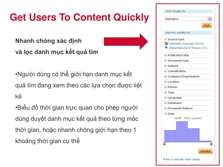 Get Users To Content Quickly