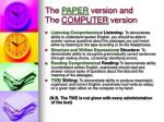the paper version and the computer version