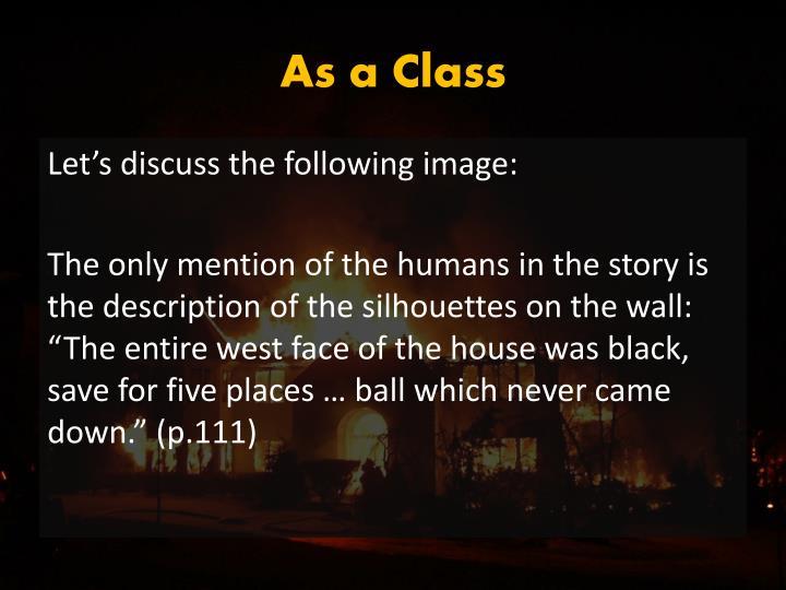 As a Class
