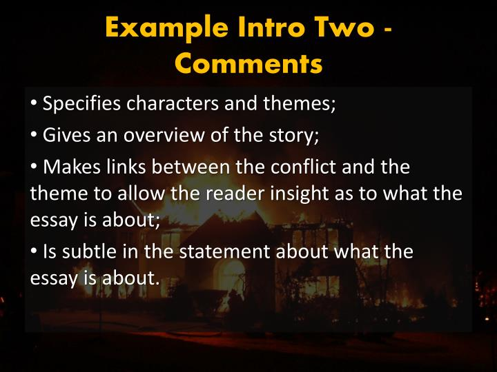 Example Intro Two - Comments