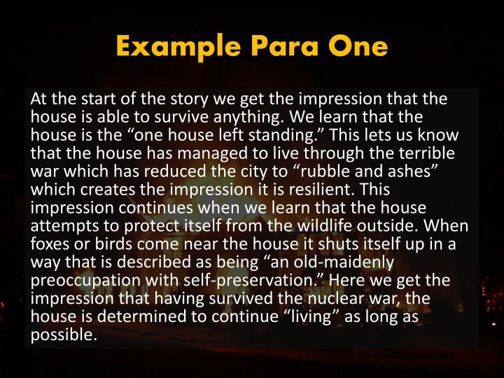 Example Para One