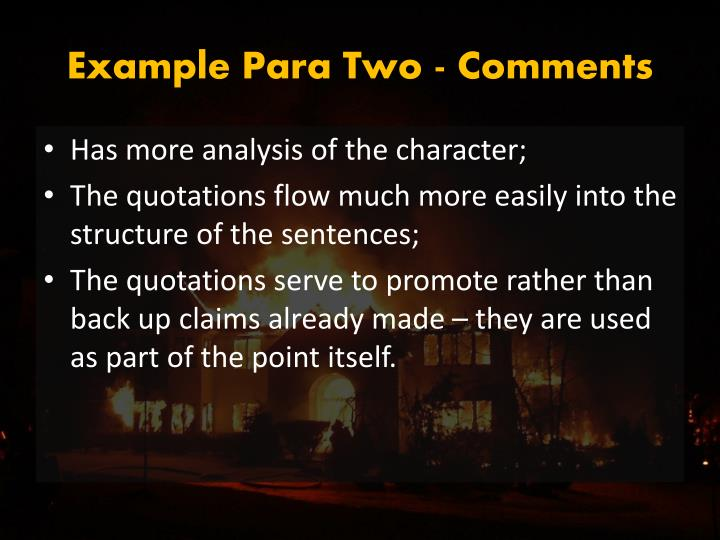 Example Para Two - Comments