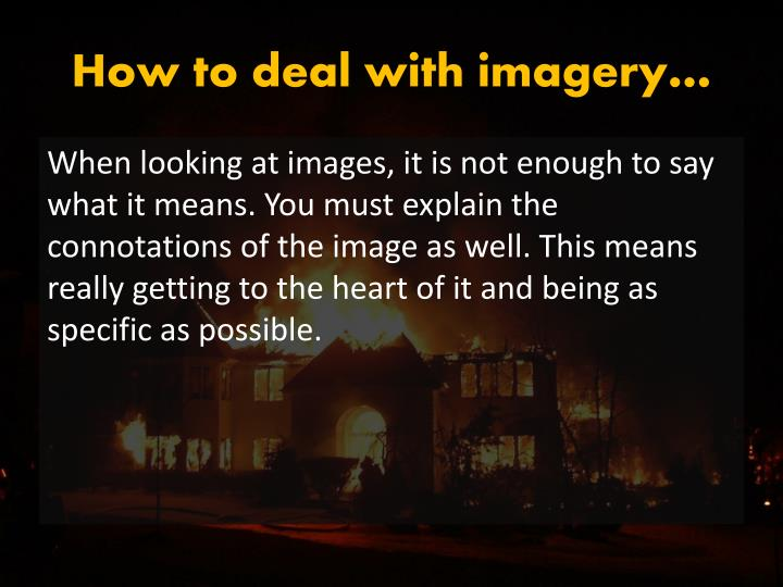 How to deal with imagery…